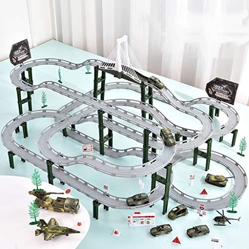 LINGLING-Pista Carriles de juguete Coche de pista for niños Juguetes for niños...