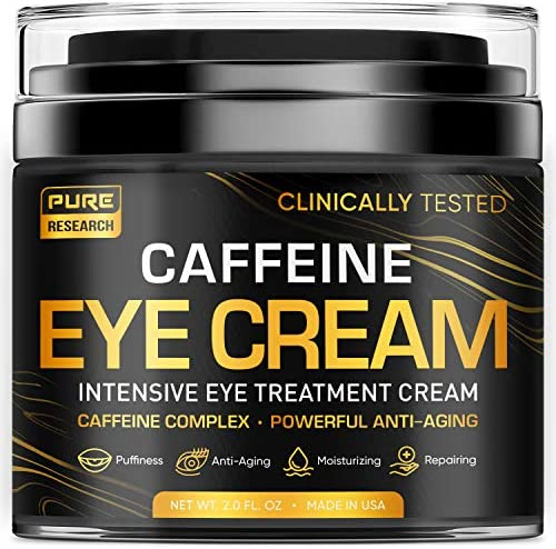 Caffeine Eye Cream For Anti Aging Dark Circles Bags Puffiness Great Under Eye Skin Face Tightening product image
