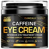 Caffeine Eye Cream For Anti Aging, Dark Circles, Bags, Puffiness. Great Under Eye Skin + Face Tightening, Eye Lift Treatment For Men & Women 1.7oz