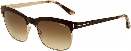 Tom Ford Sunglasses - Elena/Frame: Shiny Dark Brown Lens: Gradient Brown-TF043748F