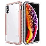 BAIYUNLONG Funda Protectora, Caja Protectora Shocproof la lámina del Metal for el iPhone XR Claro PC + TPU (Color : Rose Gold)