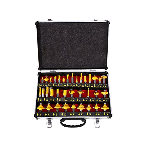 Great-hyc High-grade alloy Milling Cutter Router Bit Woodworking Tools, 35pcs/ Set