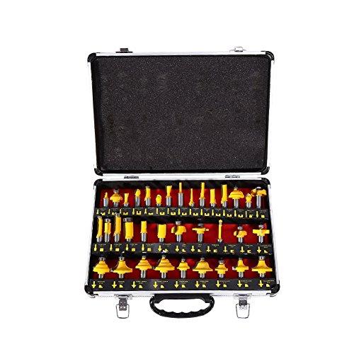 'Geschenkbox mit 35pcs 1/2Erdbeeren Schaltnetzteil, Behandlung Rand, Kerbe Werkzeug Arbeit des Holz für Tischlerei Schreiner