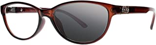 Transition Photochromic Rhinestone Arms Cat Eye Reading Glasses UV400 Sunglasses +1.0 +2.0 ~+4.0