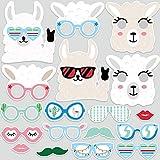 Outus 24 Zählung Lama Foto Stand Requisiten, Papier Lama Fun Brille und Masken Fiesta Baby Dusche...