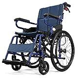 ZXL@ED Ältere Leichtklapp Rollstuhl Fahr Medical, Behinderte Rollstuhl-Trolley Für Behinderte Scooter Tragbarer Elderly Reise Rollstuhl schwer -