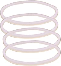 Anbige 4PCS White Rubber Sealing O-Ring Gasket Replacement Parts for Ninja Juicer Blender Replacement Seals (4 3.22inch ga...