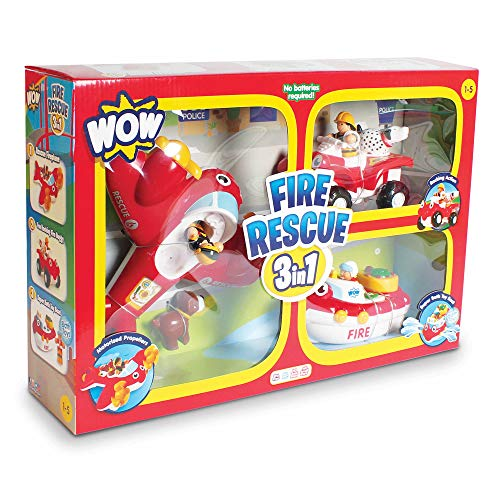 WOW Toys Fire Rescue 3 in 1 Playset, 3 pc.