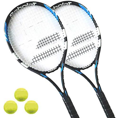 Babolat First Blue 105 - Tennisschlaeger besaitet - Auslaufpreis (2 x L3 + 3 Bälle)