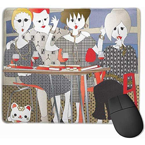 Cute Gaming Mouse Pad, Desk Mousepad, Small Mouse Pad, Mouse Mat Young Mah Jongg Mahj Mahjong Friends Winner