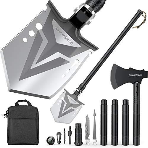Sahara Sailor Survival Shovel Axe, Indestructible Camping Shovel Axe & Hatchet - 4 Thicken Extension...