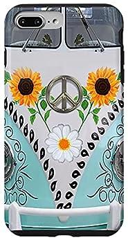 iPhone 7 Plus/8 Plus Love Hippie Bus Car PC Sunflower Case