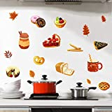 ROFARSO Colorful Cute Cartoon Dessert Bread Food Wall Stickers for Kids Kitchen Removable Wall Decals DIY Decorations for Nursery Baby Boys Girls Bedroom Playroom Living Room