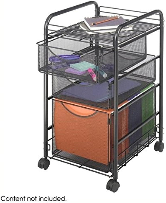 Scranton & Co 3 Drawer Mesh File Cart