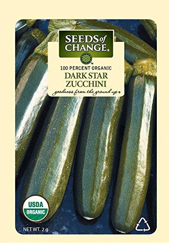 Seeds of Change S21870 Organic Dark Star Zucchini Squash Seeds