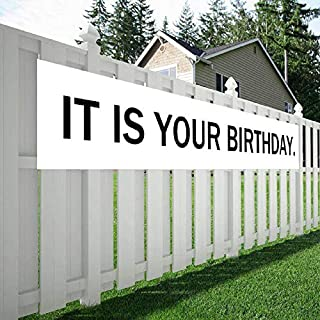 Maplelon Large Birthday Banner, IT is Your Birthday The Office Theme Party Sign, Surprise Party Decoration