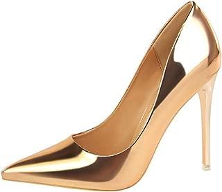Calaier Femme Caflower 9CM Aiguille Glisser sur Escarpins Chaussures
