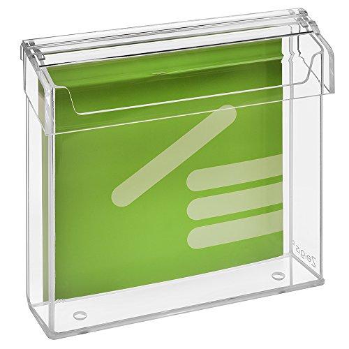 Prospektbox/Prospekthalter / Flyerhalter für Prospekte 21x21cm, wetterfest, für Außen, mit Deckel, aus glasklarem Acrylglas - Zeigis®