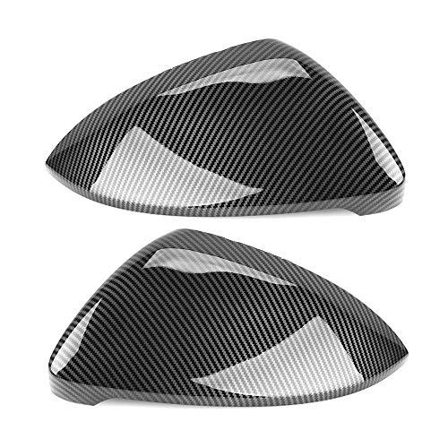 2 Stück for VW Golf GTI MK7 MK7.5 7 Golf 7 R Touran L Golf7 G Außenspiegel Abdeckkappen (Carbon-Effekt) ABS Carbon-Faser-Farbe Auto Spiegelkappen