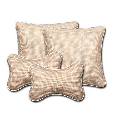 Almohadas de viaje Equipo de almohada y almohadilla para el cuello del cojín y el reposacabezas de Travel Ease Back para el asiento Erognomic Design Ajuste universal para asiento de auto Almohada de e