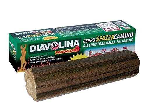 Diavolina 'messenblok schoorsteenveger' direct vechtvrij, verbrandt de schoorsteenveger.