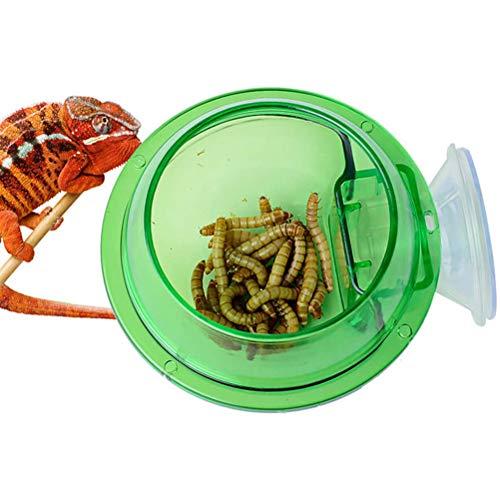LifeBest Ventosa Alimentador de Reptiles Gusano Forraje Vivo Contenedor Anti-Escape Alimentador de...