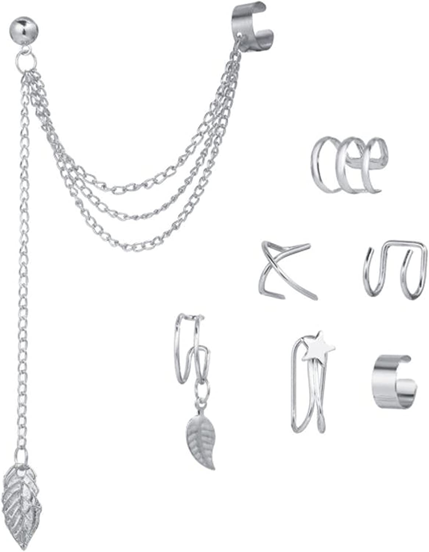 Winwinfly Adjustable Ear Cuff Earrings For Women Girl Cartilage Ear Clip Aesthetic Kpop Minimalist Modern Goth Unique Trendy Variety Earring Cuff Non Pierced Sets Of 7 Cheap Jewelry