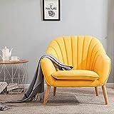 Zhuowei Ohrensessel Sessel Polstersessel mit Armlehnen Gelegentlicher Stuhl mit Massivholzbeinen Cocktailsessel für Wohnzimmer Schlafzimmer Schlafzimmer,Grün