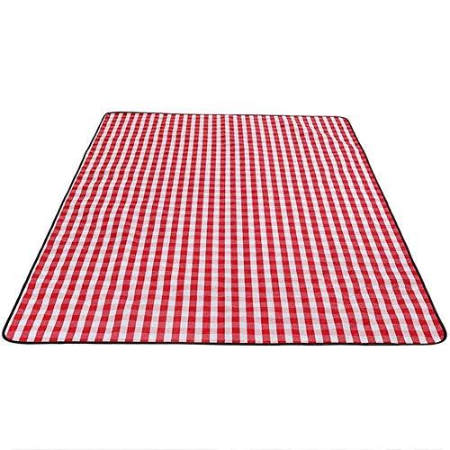 LHY- Beach Mat Mat Pique-Nique Tente Tapis extérieur Pique-Nique Blanket Portable étanche 200 × 150cm Bleu/Rouge Résiste à l'humidité (Color : Red)