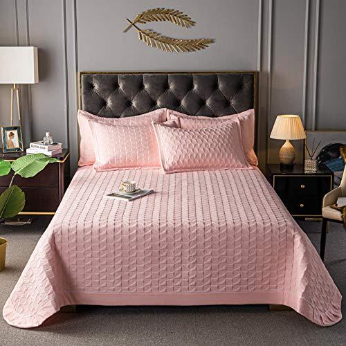Juego de colcha de cama, funda de edredón acolchada de color puro, cómoda colcha de verano para aire acondicionado, sábana de cama, funda de sofá, juego de 3 piezas, 200230 cm