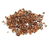Skyflame High Luster 10-Pound Fire Glass for Fire Pit Fireplace Landscaping, 1/4-Inch Copp...