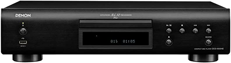 Denon DCD-800NE Single Disc CD Player with Integrated USB Port | Powerful Processing | Plays All Modern File Formats | Vibration-Resistant Audio Reproduction