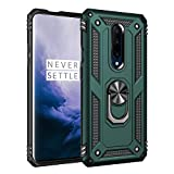 Korecase Compatible with Oneplus 7 Pro Case, Armor Dual Layer Protective Cover Built-in 360 Degree Swivel Ring Kickstand Jade Green