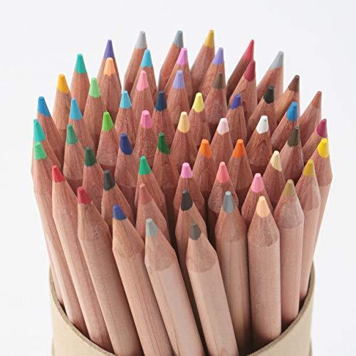 36色の色鉛筆に加えて、みかんいろ、マラカイトグリーン、ディープペールオレンジ、こうばいいろ、さくらがい、わかばいろなどさらに魅力的な色があり、おうち時間にスケッチやお絵かきを家族で楽しめそう。