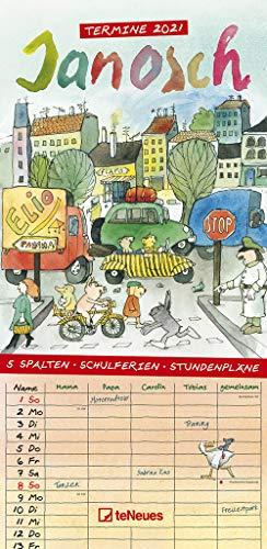 Janosch 2021 Familienplaner - Familien-Timer - Termin-Planer - Kinder-Kalender - Familien-Kalender - 22x45