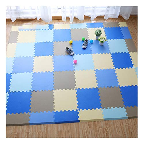 Review ALGFree Baby Infant Crawling Mat with Fence Piece Puzzle Exercise Mat Kids Crawling Waterproo...