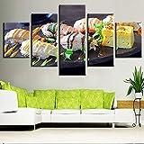 Decoración HD imprimir imagen pintura pared arte póster piezas delicioso sushi comida moderno lienzo sala de estar sin marco 40 * 60 40 * 80 40 * 100