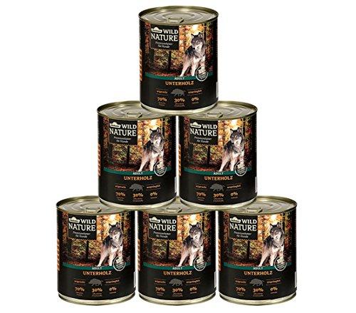 Dehner Wild Nature Hundefutter Adult, Unterholz, 6 x 400 g (2.4 kg)