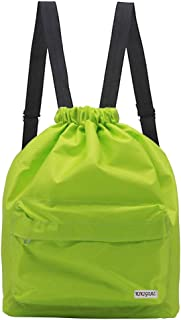Cotton Canvas Drawstring Backpack Student Gym Shoes Bag Color Dinosaur Navy B B#