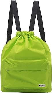 KIKIGOAL Dry Wet Separated Swimming Bag Portable Drawstring Backpack Waterproof Gym Sports Pool Beach Gear Bag for Men Women Boys and Girls