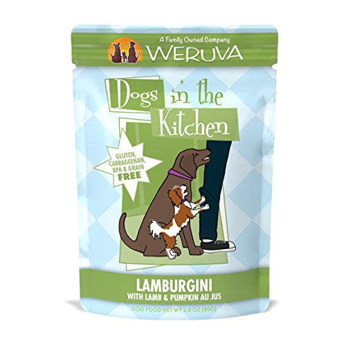Weruva Dogs In The Kitchen, Lamburgini With Lamb & Pumpkin Au Jus Dog Food, 2.8Oz Pouch (Pack Of 12)