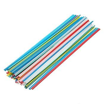 50pcs 5Color Plastic Welding Rods for Welder Sticks  Colorful