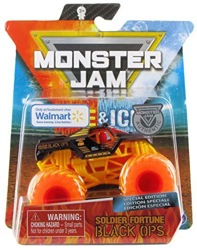 Monster Jam 2020 Fire & Ice Exclusivo Soldado Fortune Black Ops escala 1:64 Diecast por Spin Master