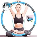 DUTISON Hula Reifen Hoop Erwachsene - Fitness Slim Weighted Hullahub zum Abnehmen für Zuhause Sport 8 Knoten Abnehmbares Design mit Gewichten Einstellbar von 1,2 bis 3,2 kg