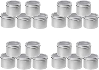 IPOTCH 20 x 100ml Aluminium Tin Large Make up Candle Pots 100ml Capacity Empty Big Cosmetic/Candle/Spice Pots/Hair Produc...
