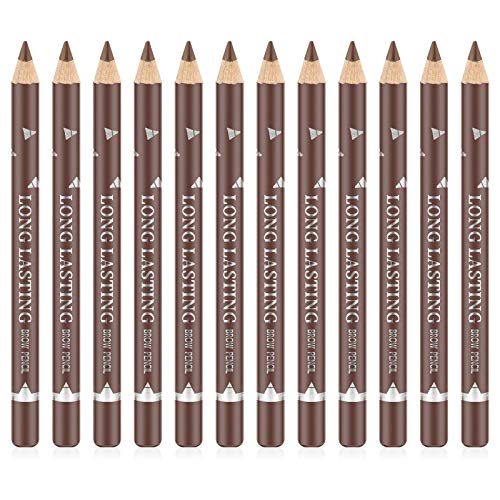 Ownest 12 Pcs Crayon À Sourcils Eyeliner Set, Gel Eyeliner Gel Crayon À Sourcils Imperméable Longue Durée Eyeliner Professionnel Maquillage Des Yeux Stylo-Marron Clair