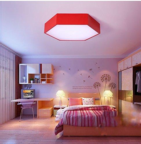 Lily's-uk Love Led personnalité de couleur enfants de la bande dessinée lumineuse chambre à coucher plafonnier simple moderne éclairage des lampes de restaurant - rouge