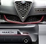4R Quattroerre.it 19962 Profilo Rosso Adesivo per Dam Paraurti Full Anteriore + Posteriore Alfa Giulietta