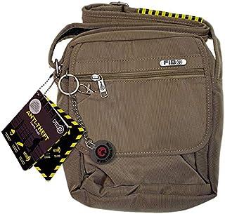 FIB Anti-Theft Slash Proof RFID North South Shoulder Bag w Tablet Pocket - Sand