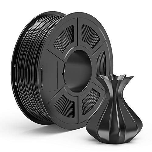 TECBEARS PLA 3D Filament Druckmaterialien 1.75mm Schwarz, Dimensionale Genauigkeit +/- 0.02 mm, 1 Kg Spule, 1 Pack